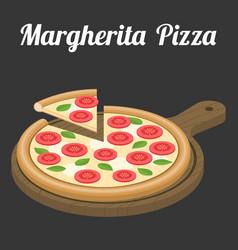 Margherita pizza vector