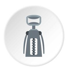 Metal corkscrew icon circle vector