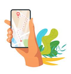 Navigation mobile app vector