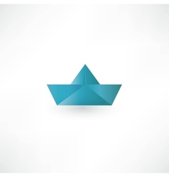 Paper Boat Symbol vector image
