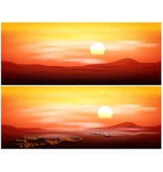 Picturesque martian panorama vector