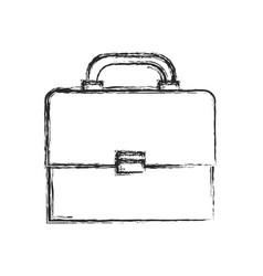 portfolio suitcase document sketch vector image