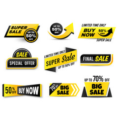 sale banners special offer banner low price tags vector image