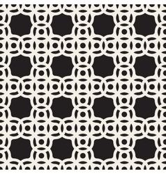 Seamless Black And White Circle Arc Square vector image