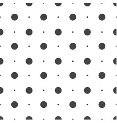 seamless dots pattern seamless on white background vector image