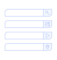 search bar design element set bar boxes vector image