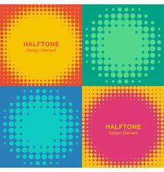 Set of Modern Flat Halftone Backgrounds vector