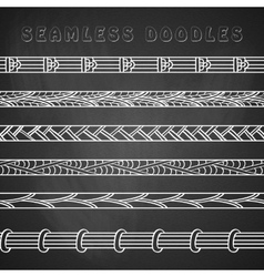 Set of seamless abstract doodle elements patterns vector image vector image