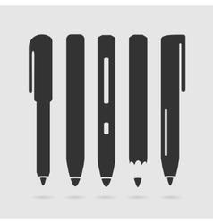 Set Symbol Pen vector image