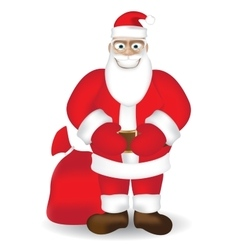 Smiling Santa vector