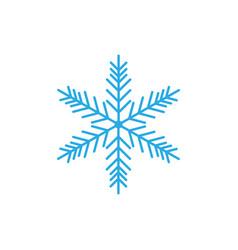 snowflake icon snow sign vector image