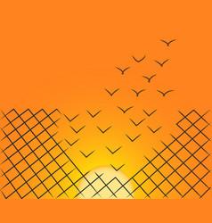 sunset escape vector image
