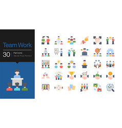 Team work icons business success concept of vector