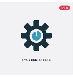 two color analytics settings icon from user vector image