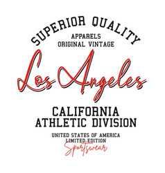 Typography badge los angeles for t-shirt vector