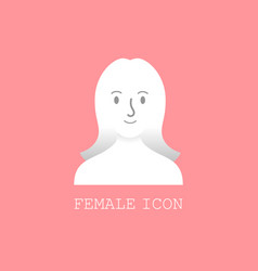 user female icon vector image