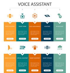Voice assistant infographic 10 option ui design vector