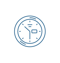 wall clock line icon concept wall clock flat vector image