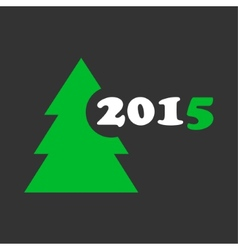 wishes for Christmas and New Year - stylized tree vector image