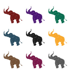 Woolly mammoth icon in black style isolated on vector