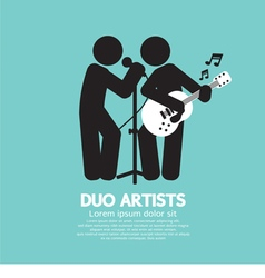 Duo Artists Black Symbol vector image