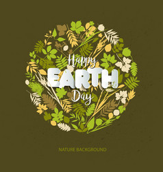 happy earth day card celebration in april with vector image vector image