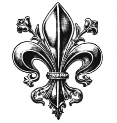 ornate fleur vector image vector image