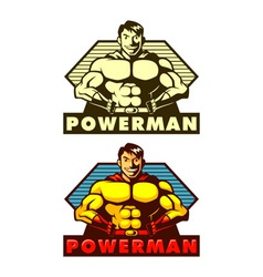Powerman Mascot vector image