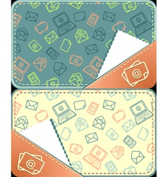 Set seamless pattern of email vector image