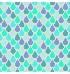 Teal and purple water drops seamless pattern vector image