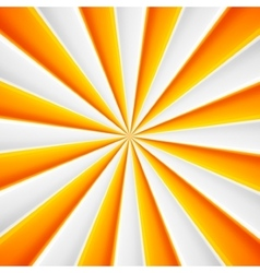 Yellow and white abstract rays circle vector image vector image