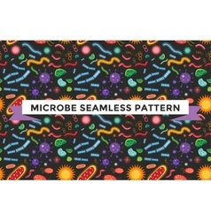 Bacteria virus seamless pattern vector image vector image