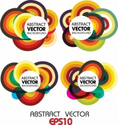 circle vector background vector image vector image