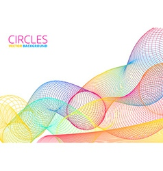 Colorful Abstract Circles vector image