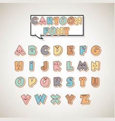 comic font alphabet pop art vector image