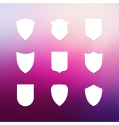 Shield frames simple icons set vector image vector image