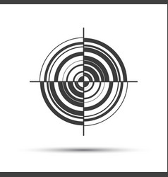 simple gray pictogram in the shape of a target vector image vector image