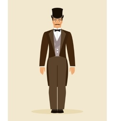 The man of the nineteenth century vector image