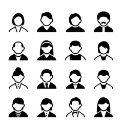 User icons set 3 vector image