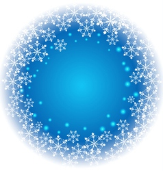 Abstract Snowflakes on blue background vector image vector image