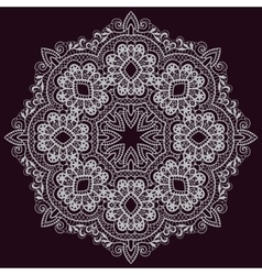 Circular pattern in arabic style vector image vector image