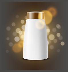 cosmetic product advertising template cream vector image
