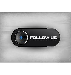 Follow Us Button vector image vector image