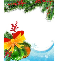 Holly berry and Christmas baubles vector image vector image