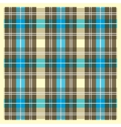 Light Yellow Brown and Blue Scottish Fabric vector image vector image