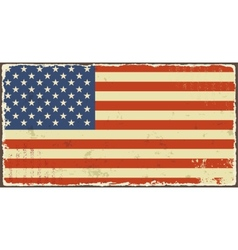 American grunge flags vector image vector image