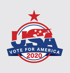 2020 united stated america presidential vote vector