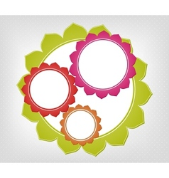 Abstract colorful frames background vector image