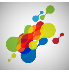abstract colorful shapes vector image
