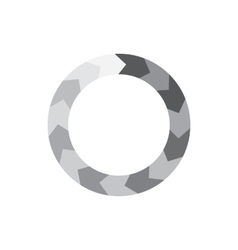Abstract geometric circle of segment arrows icon vector